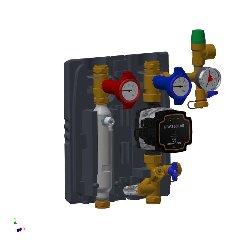 Module hydraulique solaire vue intérieure