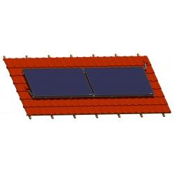 Capteurs horizontaux sur toiture