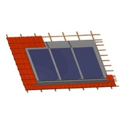 Capteurs intégrés en toiture vue en coupe