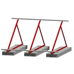 Châssis triangulaire pour montage vertical