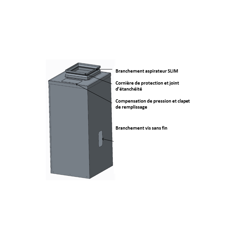 Réservoir aspirateur SLIM 500